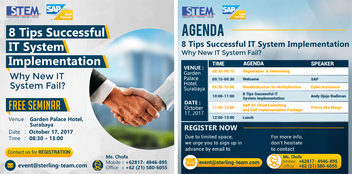 Surabaya Seminar: 8 Tips Successful IT System Implementation