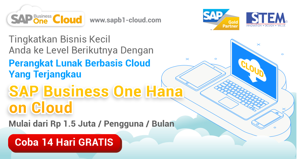 SAP Business One Hana di Cloud - STEM SAP Business One Indonesia