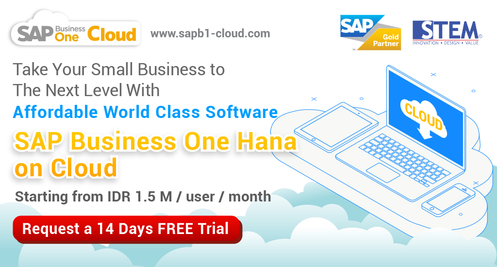 sap business one hana on cloud - stem solution sap business one indonesia