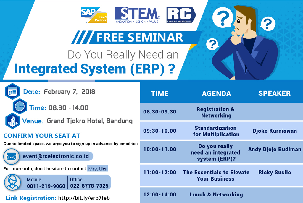 STEM FREE Seminar - Do You Really Need an Integrated System (ERP)