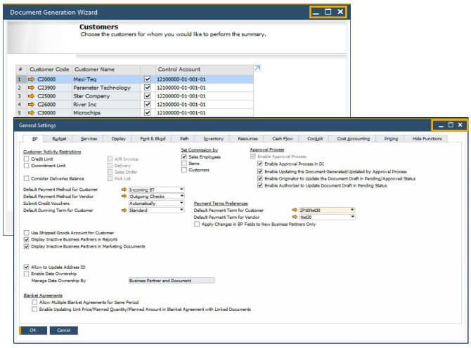 SAP Business One 10 Alignment of Form Behaviour