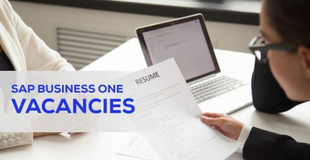 sap business one vacancies