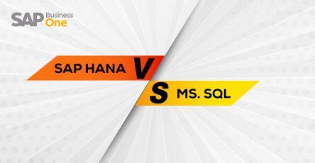 sap hana versus ms sql