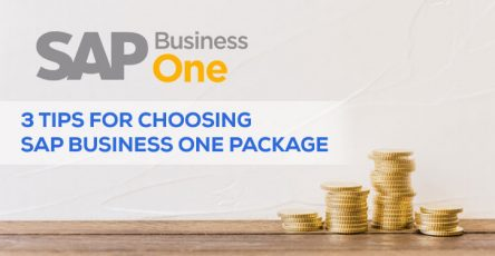 3 tips for choosing sap business one package