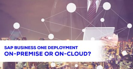 SAP Business One Deployment On Premise or On Cloud