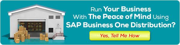 sap business one distribution