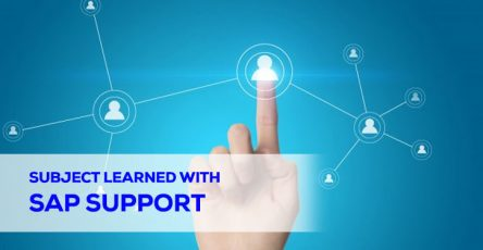 subject learned with sap support