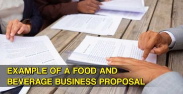 Example of a Food an Beverage Business Proposal