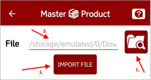 stock count import file