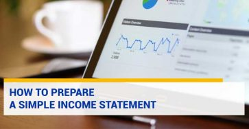 How to Prepare a Simple Income Statement