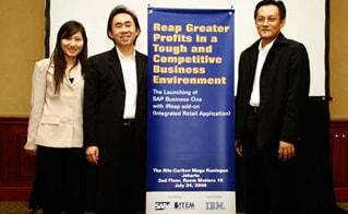 The Launching of SAP Business One with iREAP add-on (integrated retail application)
