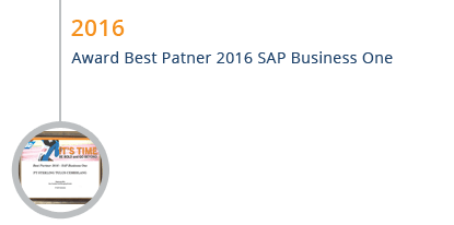 History STEM SAP Gold Partner Indonesia mendapatkan Award Best Partner SAP Business One 2016