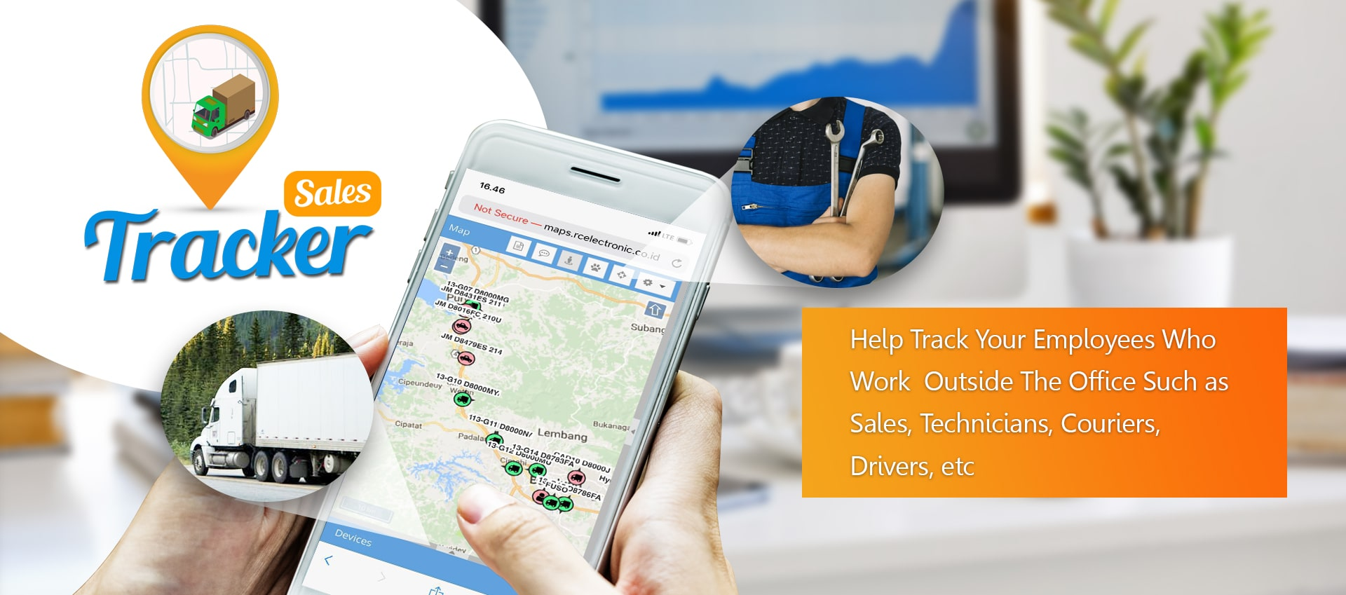 Help Track Your Employees Who Work  Outside The Office Such as Sales, Technicians, Couriers, Drivers, etc using mobile gps tracker mytrack