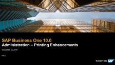 SAP Business One 10 - Administration - Printing Enhancements