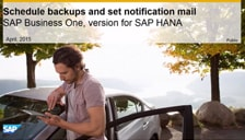 SAP Business One Hana Schedule Backup and Set Notification Mail