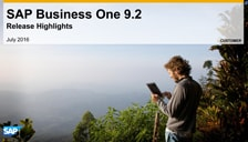 SAP Business One 9.2 Project Management